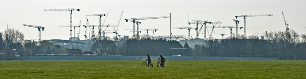 Olympic construction cranes. 2010
