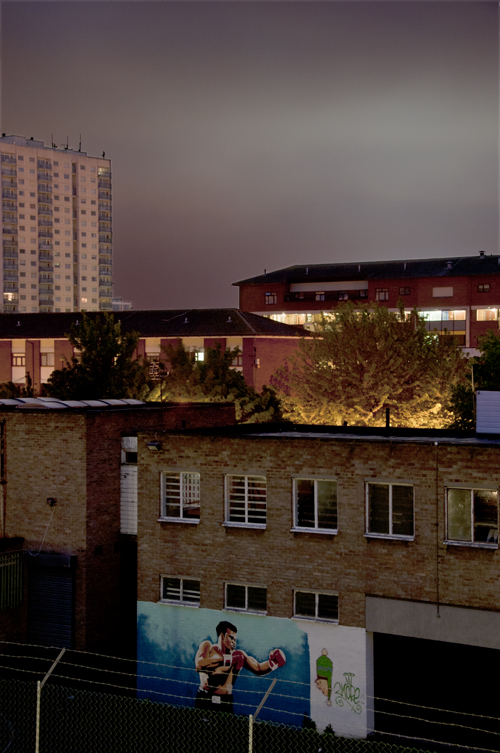 The distant glow from the Olympic stadium. 2012