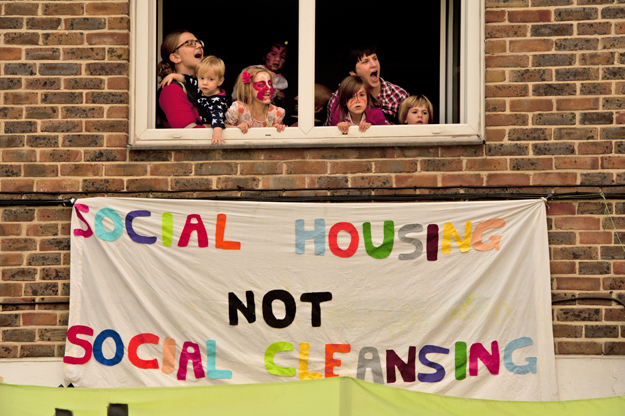 Supporters of the Focus E15 Mums  Occupation. Sept 2014